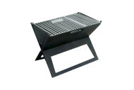 Fire Sense 60508 Notebook Portable Charcoal Grill - Outdoor Patio Supply