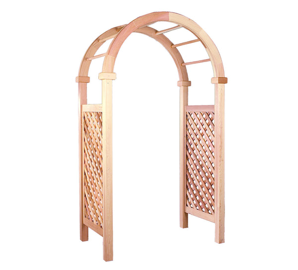 Rustic Natural Cedar 600605 New England Deluxe Arbor - Outdoor Patio Supply - 1