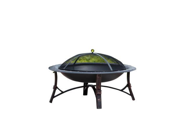 Fire Sense 60857 Wood Burning Roman Fire Pit - Outdoor Patio Supply