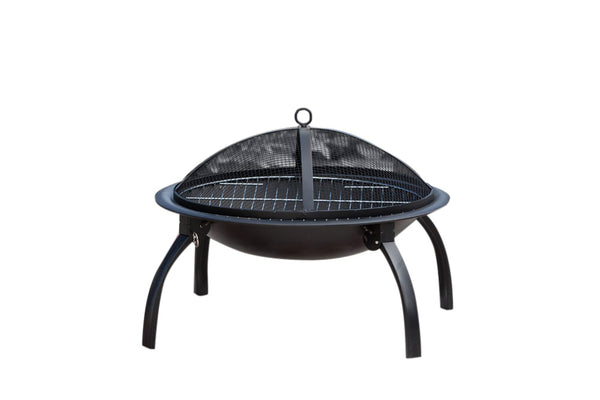 "Fire Sense 60873 Wood Burning 22"" Folding Fire Pit - Outdoor Patio Supply"