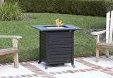 Fire Sense 61927 Donato Extruded Aluminum Bistro LPG Fire Pit - Outdoor Patio Supply