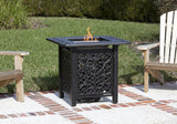 Fire Sense 61928 Sanremo Cast Aluminum Bistro LPG Fire Pit - Outdoor Patio Supply