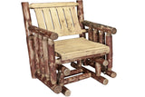 Montana Woodworks Glacier Country Collection Single Seat Glider, Exterior Stain Finish - Outdoor Patio Supply - 1