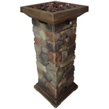 Bond 67343A Galiano Gas Column Firebowl - Outdoor Patio Supply