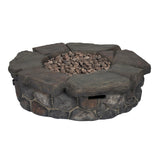 Bond 67641 Granite Falls Gas Fire Table - Outdoor Patio Supply
