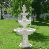 Sunnydaze Welcome 3-Tier Garden Fountain - Outdoor Patio Supply - 1