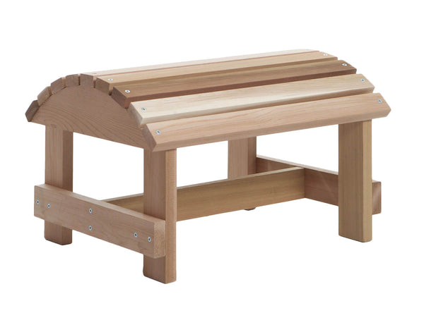 All Things Cedar AO18U Cedar Muskoka Ottoman - Outdoor Patio Supply