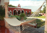 Sunnydaze American Style Mayan Hammock with Spreader Bar- Natural - Outdoor Patio Supply - 1