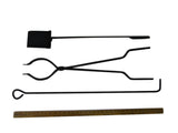 Fire Pit Art Amish Fire Tools w/ Shovel, Tongs, and Fire Poker - Outdoor Patio Supply - 1