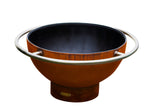 Fire Pit Art Bella Luna Steel Constructed Wood Burning Fire Pit - Outdoor Patio Supply - 1