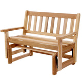 All Things Cedar CG45U Cedar Bench Glider - Outdoor Patio Supply