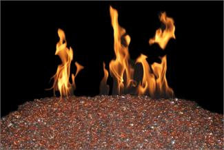 Coral Reef Colored Gems for Peterson Burner systems and Gas Firepits - Outdoor Patio Supply