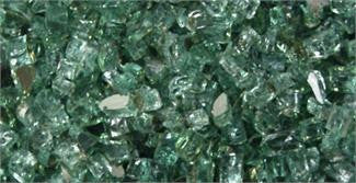 Emerald Reflective Colored Fire Glass for Peterson Burners and Gas Firepits - Outdoor Patio Supply
