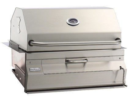 "Fire Magic Charcoal Legacy Built In Grill with 24"" Smoker Hood - Outdoor Patio Supply"