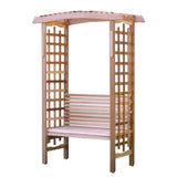 All Things Cedar GA87U-AB44U Garden Arbor w/ Bench - Outdoor Patio Supply