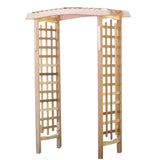 All Things Cedar GA87U Wooden Garden Arbor - Outdoor Patio Supply