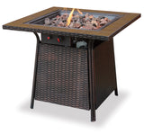 UniFlame GAD1001B LP Gas Outdoor Firebowl w/ Tile Mantel - Outdoor Patio Supply - 1