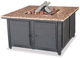 UniFlame GAD1200B LP Gas Outdoor Firebowl w/ Granite Mantel - Outdoor Patio Supply - 1