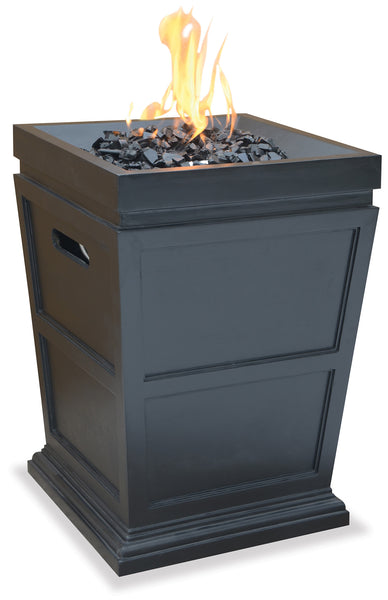 UniFlame GAD1321SP LP Gas Large Outdoor Fireplace - Outdoor Patio Supply