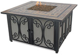 Endless Summer GAD1351SP Square LP Gas Fire Pit Table with Slate Top - Outdoor Patio Supply - 1