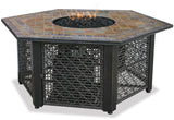 UniFlame GAD1374SP LP Gas Outdoor Firebowl w/ Slate Tile - Outdoor Patio Supply - 1