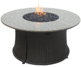 Endless Summer GAD1375SP Round LP Gas Fire Pit Table with Granite Mantle - Outdoor Patio Supply