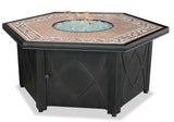 UniFlame GAD1380SP LP Gas Firebowl w/ Decorative Tile - Outdoor Patio Supply - 1