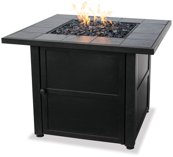 UniFlame GAD1399SP LP Gas Outdooor Firebowl w/ Slate Tile - Outdoor Patio Supply - 1