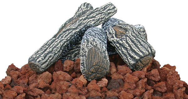UniFlame LOG-KIT Lava Rock and Log Kit - Outdoor Patio Supply