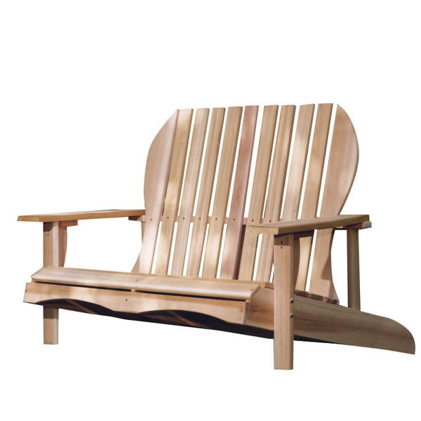 All Things Cedar LS48U Adirondack LoveSeat - Outdoor Patio Supply