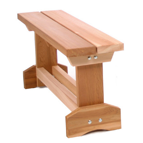 All Things Cedar MB30U 3' Wooden Market Bench - Outdoor Patio Supply