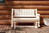 Montana Woodworks Homestead Collection Outdoor Glider, Ready to Finish - Outdoor Patio Supply - 1