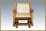 Montana Woodworks Homestead Collection Single Seat Outdoor Glider, Exterior Stain Finish - Outdoor Patio Supply