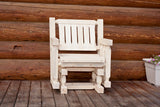 Montana Woodworks Homestead Collection Single Seat Glider, Ready to Finish - Outdoor Patio Supply - 1