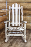 Montana Woodworks Montana Collection Adult Log Rocker, Ready to Finish - Outdoor Patio Supply - 1