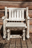 Montana Woodworks Montana Collection Single Seat Outdoor Glider, Ready to Finish - Outdoor Patio Supply - 1