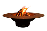 Fire Pit Art Magnum Steel Constructed Wood Burning Fire Pit - Outdoor Patio Supply