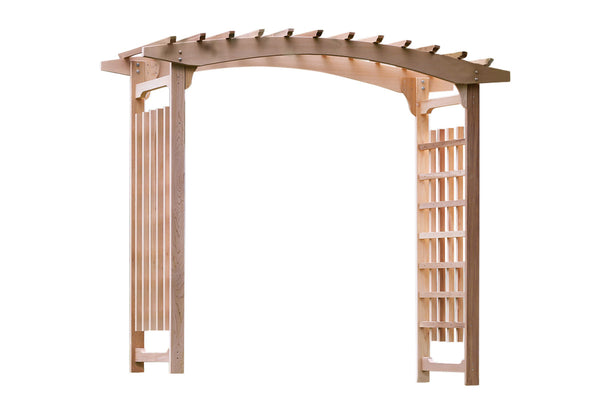 All Things Cedar PA106U Pagoda Wedding Arbor - Outdoor Patio Supply