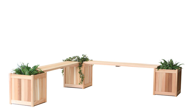 All Things Cedar PLB60U-5P 5pc. Planter w/ Benches - Outdoor Patio Supply