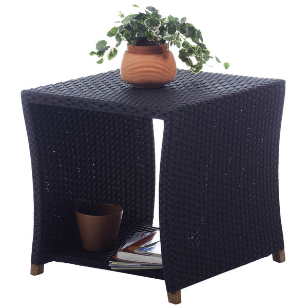 All Things Cedar PR20 Rattan Side Table - Outdoor Patio Supply - 1