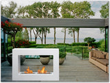Bio-Blaze BB-QLW Qube Large White Bio-ethanol fireplaces - Outdoor Patio Supply - 2