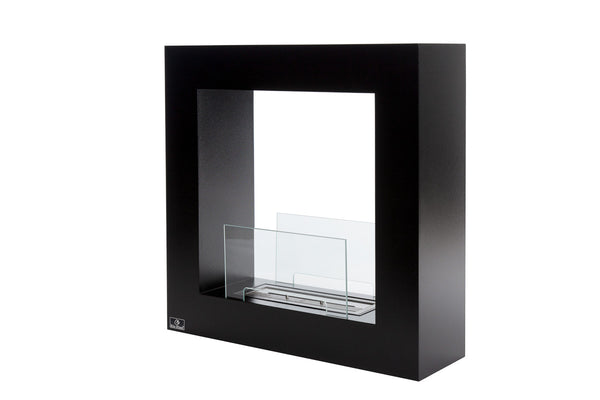 Bio-Blaze BB-QSB Qube Small Black Bio-ethanol Fireplace - Outdoor Patio Supply - 1