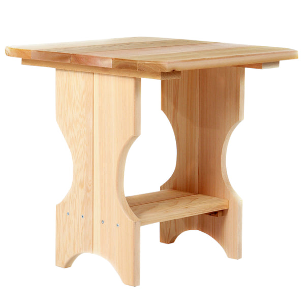 All Things Cedar ST24U Adirondack Magazine Table - Outdoor Patio Supply