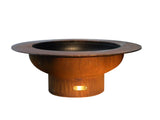 Fire Pit Art Saturn Steel Constructed Wood Burning Fire Pit - Outdoor Patio Supply - 1