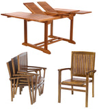 All Things Cedar TD72-24 5pc. Butterfly Stacking Chair Dining Set - Outdoor Patio Supply - 1