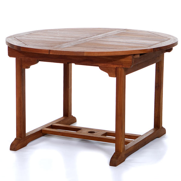 All Things Cedar TE70 Oval Extension Table - Outdoor Patio Supply - 1