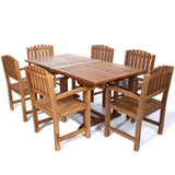 All Things Cedar TE90-20 7pc. Rectangle Dining Chair Set - Outdoor Patio Supply - 1