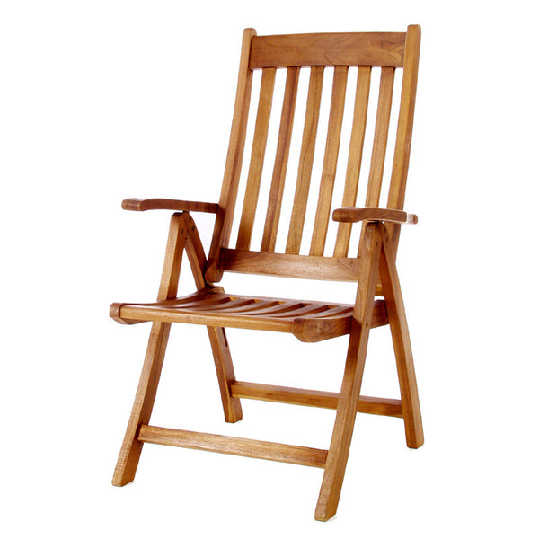 All Things Cedar TF44 5 Position Folding Arm Chair - Outdoor Patio Supply - 1