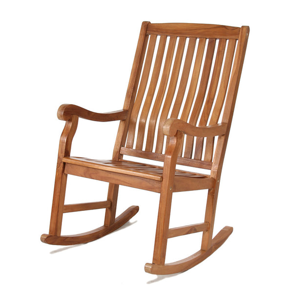 All Things Cedar TR22 Teak Rocking Chair - Outdoor Patio Supply - 1