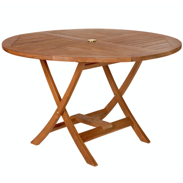 All Things Cedar TR48 Round Folding Table - Outdoor Patio Supply - 1